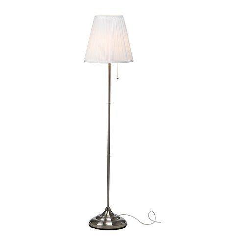 """IKEA Stehlampe """"Arstid"""" 155 cm hohe Stehleuchte - vernickelt - mit Stoffschirm"""