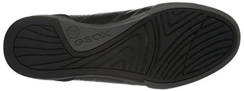 Geox U Kristof A Herren Low-Top Schwarz (BLACK/DK GREYC0005)
