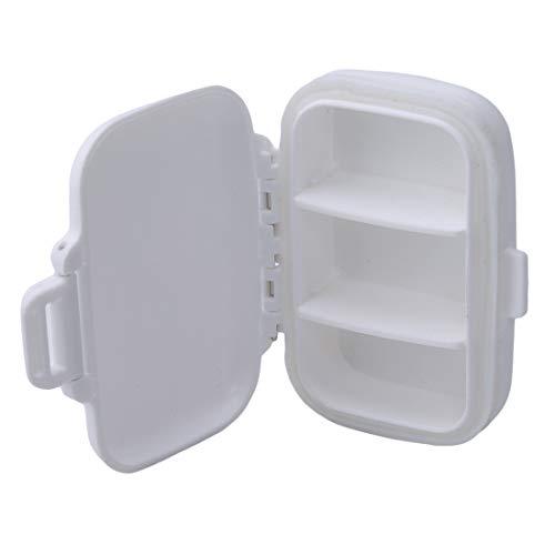 Preisvergleich Produktbild LGJJJ Medizin Box Tragbare Reise Pillendose Kreative Tablet Organizer Fall Mini Medizin Fall Outdoor Seal Tablet Box,  weiß