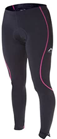 Womens More Mile Black/Pink thermal cycle tights MM1196W (16)
