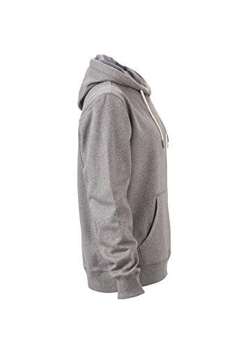 James & Nicholson Herren Hoody Sweatshirt Grau (Grey-Melange)