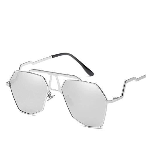 WERERT Sportbrille Sonnenbrillen Women Retro Irregular Sunglasses Metal Transparent Sun Glasses Uv400 Oversized Sunglases Eyewear