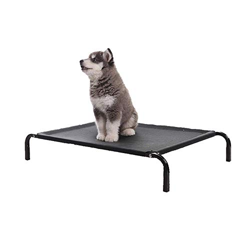 Beste Freunde Erhöhte Hundebett, Haustier Bett Sommer Wasserdicht Atmungsaktive Matte Non-Slip Base Indoor Outdoor-Einsatz,L