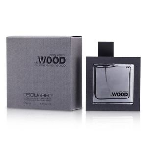 NEW Dsquared2 He Wood Silver Wind Wood EDT Spray 1.7oz Mens Men's Perfume