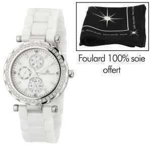 Stella Maris ST5591-Orologio da donna con cinturino in ceramica, colore: bianco con quadrante, colore: bianco