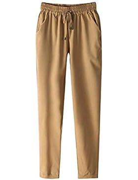 Pantalón Mujer de Ba Zha Hei, Pantalones de harén ultrafinos Suaves Ocasionales de Las Mujeres Pantalones de Cintura...
