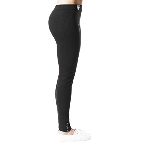 2er Pack Yeyo by BRUBAKER Ripp Leggings Baumwoll Stretch Schwarz