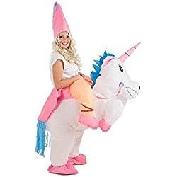 Creaciones Llopis Disfraz Adulto Hinchable Unicornio con Princesa, (9462)
