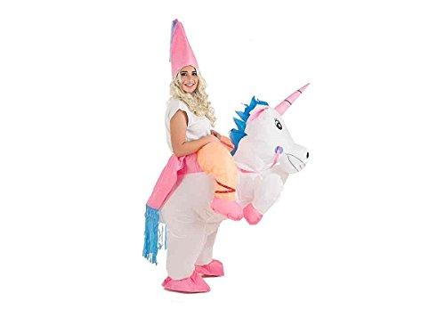 Creaciones Llopis- Disfraz Adulto Hinchable Unicornio con Princesa, (9462)