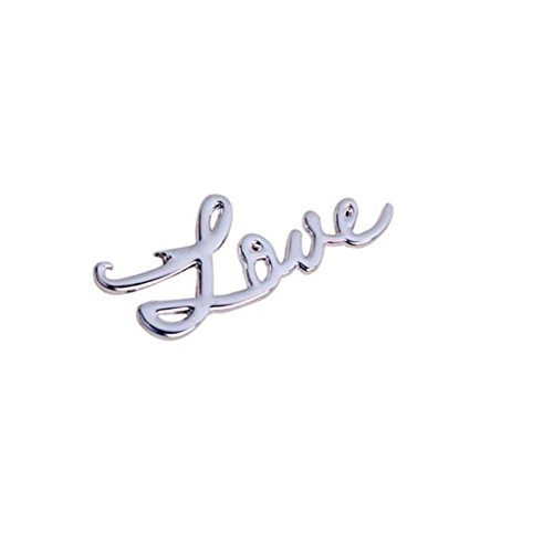 (Makefortune Flaschenöffner Liebe Form Legierung Werkzeug Hochzeit Geschenk Souvenirs für Weinflaschen Hohe qualität metall flaschenöffner (Silber))