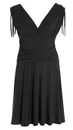 Chocolate Pickle ® Damenoberkörper Drape Ausgehen Kleid S-L Black