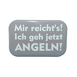Magnet Kühlschrankmagnet Rechteckig eckig groß ca. 7 x 4,5 cm gute Haftung Motiv: Spruch Angeln Angler Fischer Anglerin Hobby Geschenk