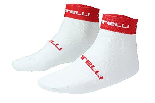 Castelli Socken Free 6weiß/rot XXL