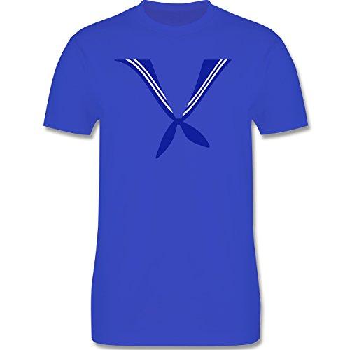 Karneval & Fasching - Matrose Kostüm Tuch - Herren Premium T-Shirt Royalblau