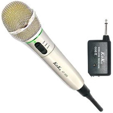 KoK AT-309 Microphone de karaoké à structure métallique avec câble XLR de 305 cm