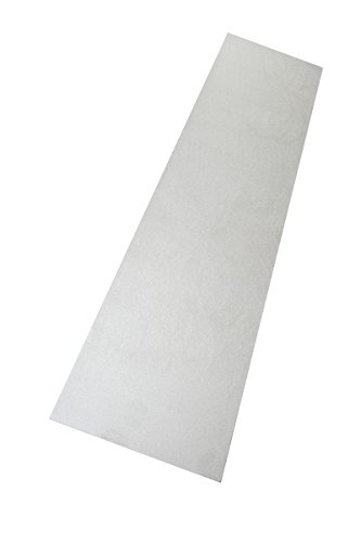 Luxus Hochflor Läufer Prestige Weiß nach Maß - versandkostenfrei schadstoffgeprüft pflegeleicht antistatisch robust strapazierfähig schmutzabweisend dekorativ Wohnzimmer Schlafzimmer Büro Flur Diele, Größe Auswählen:80 x 400 cm