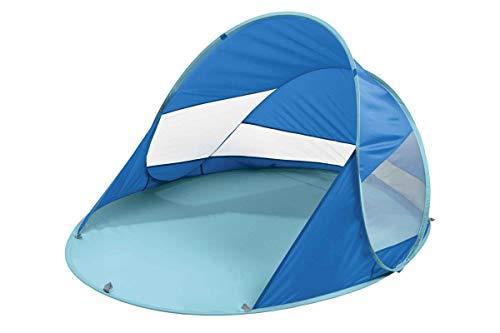 Crivit Pop Up Strandmuschel, Wurfzelt Aufbau in Sekundenschnelle Hellblau/Blau