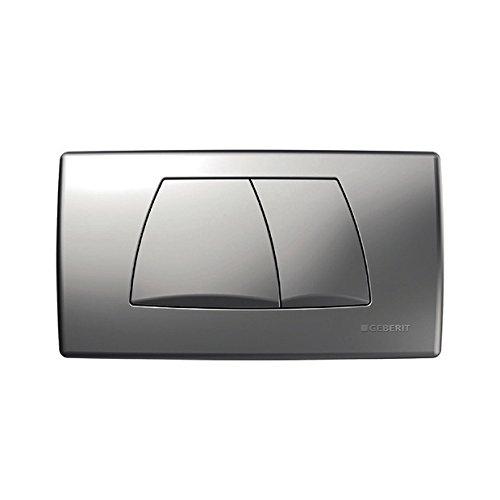 Preisvergleich Produktbild Geberit Betätigungsplatte Twinline, 1 Stück, matt-chrom, 115888461