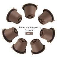 4pcs/pack Refillable Nespresso Capsule Compatible with Nespresso Coffee machine Refillable capsulas Refill Capsules Pods
