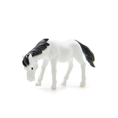 Micro Landschaft Kunstharz Basteln Mini Mini Pferd Figurinen Moos Süß Deko Miniaturen Kostüm Fairy Garten Garten Heim Dekor (Kaffee) - Weiß, free - Kaffee Topf Kostüm