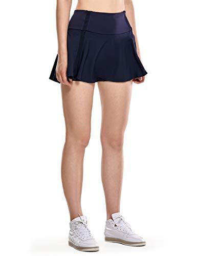 CRZ YOGA Donna Gonna da Tennis con Pantaloncini Gonna Corta per Golf Blu Navy 44