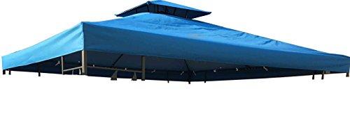 habeig Ersatzdach 310g/m² Wasserdicht, circa 3 x 3 m, Pavillondach Wasserfest, blau, 298 x 298 x 18...