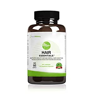 Hair Essentials Natural, Herbal Hair Growth Supplement for Men & Women - DHT Blocker, Provides Nutrients to Help Repair and Nourish Thinning Hair - Daily Capsules Fight Hair Loss and Promote New Growth