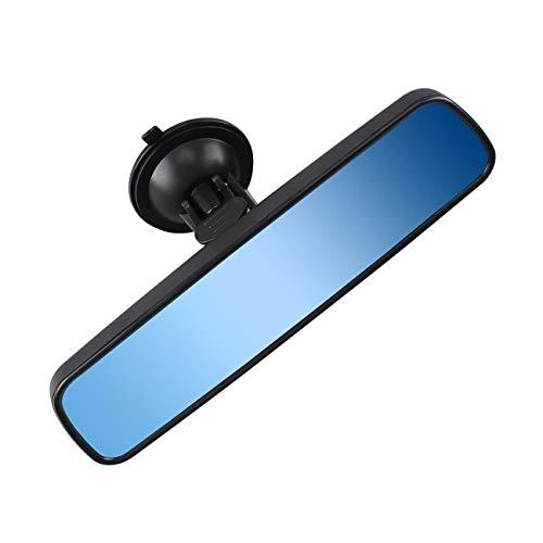 Heart Horse Anti-Glare-Tag/Nacht-Rückspiegel, Universal Auto-LKW-Innenspiegel Anti-Glare Saugnapf Blau Spiegel (Breite 24,5 cm / 9.6in)