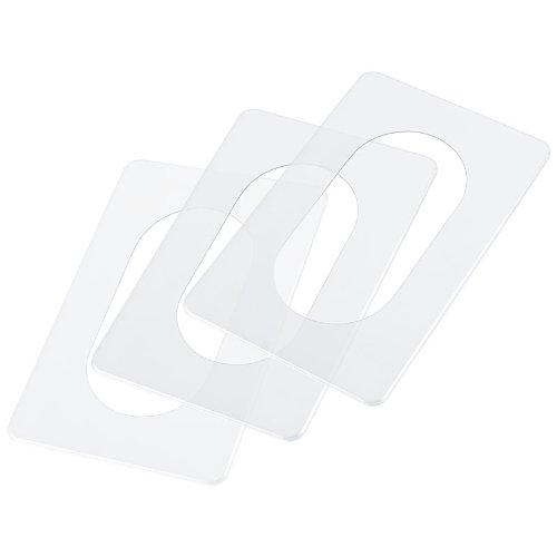 pekarek Schutz / Dekor Platte Transparent – Für Licht Schalter und Steckdosen 2 fach (3 Stück)