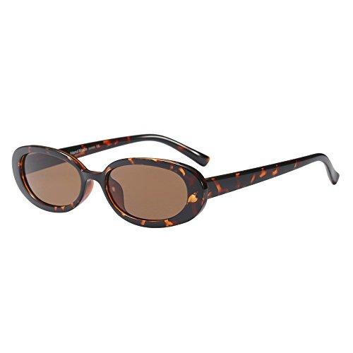 Battnot☀ Sonnenbrille für Damen Herren, Unisex Vintage Ovaler Kleiner Rahmen Mode Anti-UV Gläser Sonnenbrillen Schutzbrillen Männer Frauen Retro Billig Cat Eye Sunglasses Women Eyewear Eyeglasses