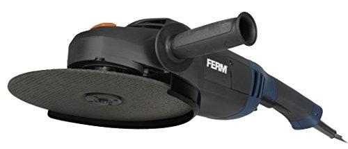 FERM Winkelschleifer 2500W - 230mm - Sicherheitsschalter - Soft-Start - Verstellbare Seitengriff - Soft Griff