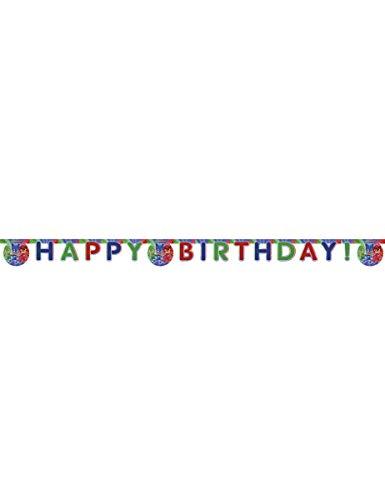Procos PR87412 Guirlande Happy Birthday Super Pyjamasques Pyjamasques, Multicolore