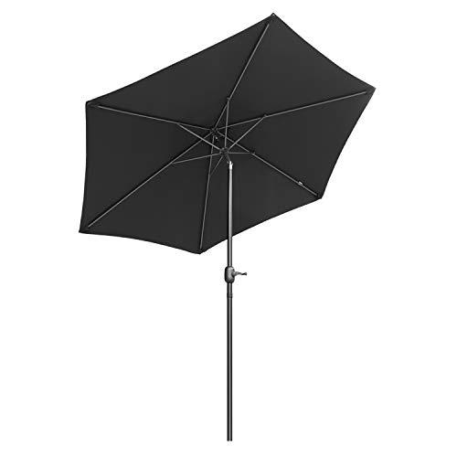 irm Marktschirm Gartenschirm Terrassenschirm Rund Sonnenschutz UV50+, schwarz ()