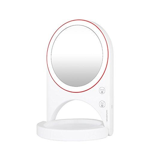 Makeup mirror LED-Kosmetikspiegel, High-Definition-Großen Spiegel Creative Beauty Light LED Weiches Licht, Einfache und Stilvolle Faltbare Tragbare. (Farbe : 2) (High-definition-speicher)
