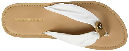 Tommy Hilfiger M1285onica 14d3, Sandales Bout Ouvert Femme Blanc (Whisper White 016)