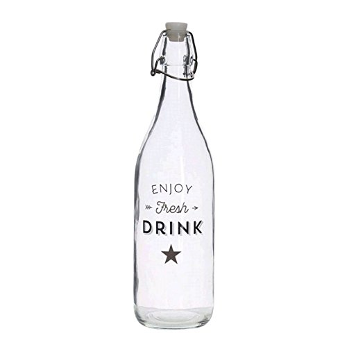 Dcasa - Botella cristal de agua 1L bistro
