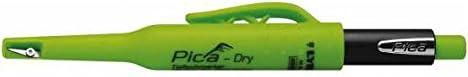 Pica Tieflochmarker Dry Longlife, langlebiger Marker mit Spitzer und Halteclip, Spezial-Graphitmine 2.8 mm, zum Markieren und Anzeichnen auf der Baustelle, schwarz, Art.-Nr. 3030.0