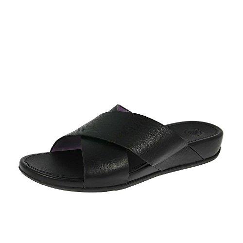 Sandales Or De FitFlop Aix Diapositive Pâle All Black