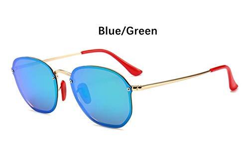 Sonnenbrille Retro Kleine Sechseckige Polarisierte Sonnenbrillen Männer Im Freien Treibenden Gläser Spiegel Sonnenbrille Frauen Einzigartige Brillen Vu 400 Grün Spiegel