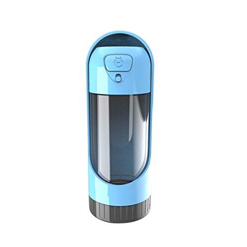 JKRTR Haustier-Wasserschale der Haustierhundekatze tragbare-Becherspender(Blau,300ml)