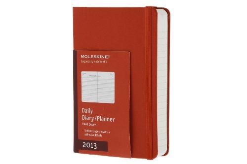 2013 Moleskine Red Pocket Daily Diary 12 Month Hard por MOLESKINE S.r.l.
