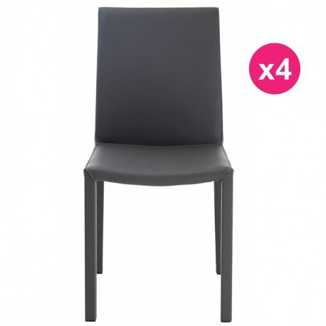 Lot de 4 Chaises Design Grises KosyForm