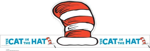 Eureka Dr. Seuss's Cat In The Hat Wearable Hat Cut-Out, 32 Hats, Approx 8 Tall Each by