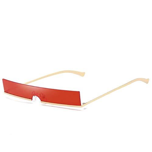 YIWU Brillen 2019 Neue Sonnenbrille Europäische und amerikanische Persönlichkeit Brille Quadrat Metall Herren und Frauensonnenbrille Brillen & Zubehör (Color : 3)
