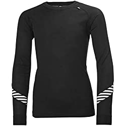 Helly Hansen Jr HH LIFA Baselayer Set, Unisex niños, Black, 16