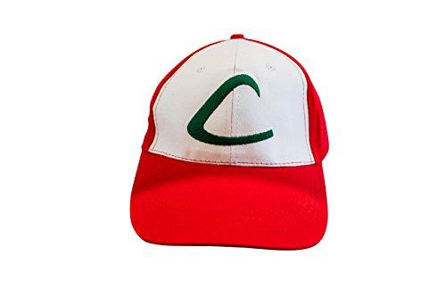 Ash Ketchum Entrenador Pokemon Gorra Cap - Disfraz para Adultos y Niños - Perfecto para Carnaval y Cosplay - Mujeres Hombres