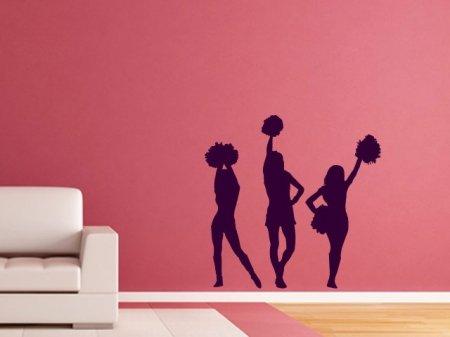 Wandtattoo, Wandsticker Cheerleader in vielen Farben und (Cheerleader Dekorationen)