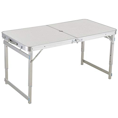 Table de barbecue extérieure en aluminium simple de pique-nique, table de propagande stable, table pliante portative et ensemble de chaises, bureau d'ordinateur rectangulaire, table pliante de hauteur