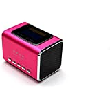 Music Angel Mini haut-parleur portable Support carte USB TF carte Micro SD MD05 x Rose