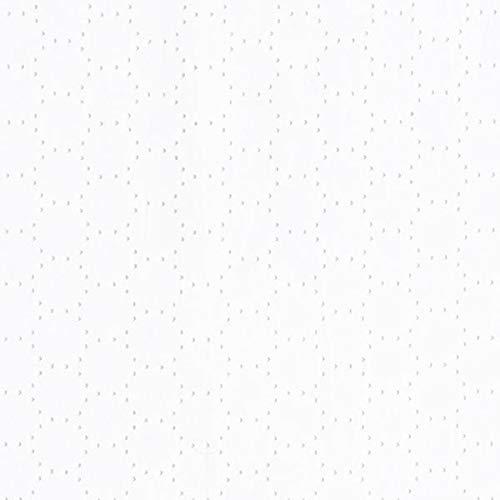 Fabulous Fabrics Baumwollstoff Ajour Kreise - Weiss - Meterware ab 0,5m - zum Nähen von Blusen, Kleider und Röcke (Rock Karierte Kreis)